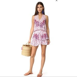 POUPETTE ST BARTH Jolie Mini Dress - White Purple